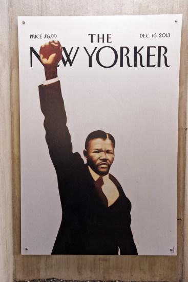 Mandela le poing levé