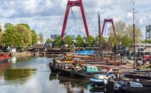 Rotterdam - pont rouge