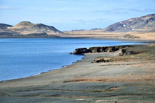 plage lac islande