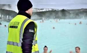 Islande - Surveillant au Blue Lagoon