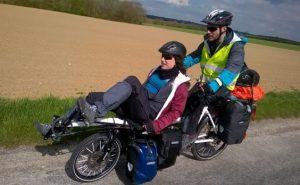Cyrielle et Thomas en vélo