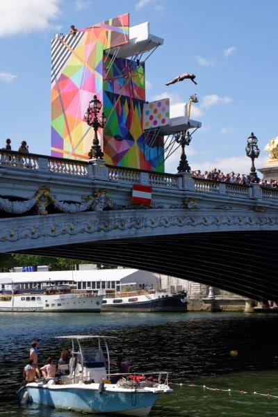 Journees olympique - Plongeon dans la Seine
