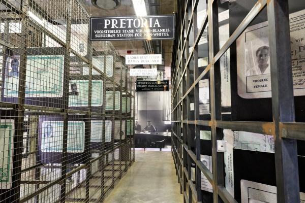 Une salle du musée de l'apartheid
