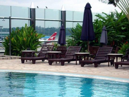 Aéroport Singapour piscine