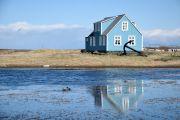 Islande - Maison bleu en Islande