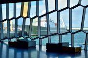Islande - Harpa vitrail