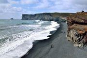 Islande - Plage de sable noire